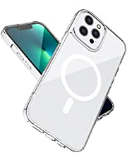 Klar magnetskal med Mag Safe Kompatibelt med iPhone 13 Pro Max 2021, med magnetisk trådlös laddning, anti -gul reptåligt, stötsäkert, transparent skyddsfodral för iPhone 13 Pro Max