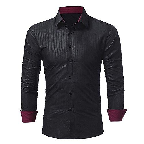 [해외]2019 새로운 핫 성격 남성 셔츠 패션 단색 스트라이프 남성 캐주얼 긴 소매 셔츠 G-리얼 / 2019 New Hot Personality Men Shirt Fashion Solid Color Stripe Male Casual Long Sleeve Shirt by G-Real