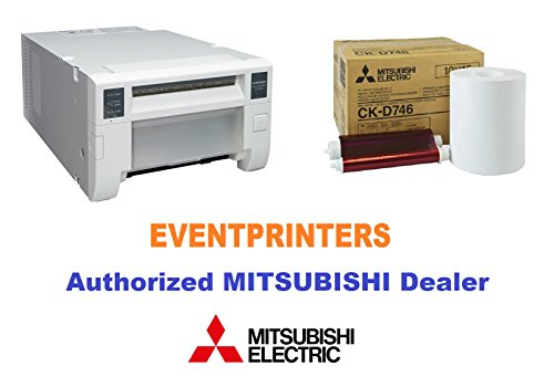Mitsubishi CP-D70DW Photo Printer - BUNDLE - with one box of CK-D746 media kit paper and ribbon (800 prints). Comes with FREE SAMPLES of our most popular photo folders! Great for photo booth! by Mitsubishi Electric