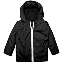 BELLE-LILI Kids Lightweight Waterproof Hooded Jacket Raincoat Hoodies with Pockets