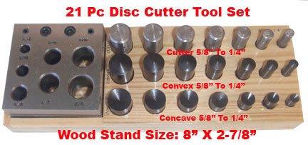 Concave Disc (21 PC Disc Convex Concave Puncher Cutter 1/4