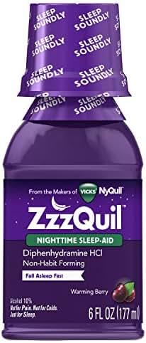 Vicks ZzzQuil Nighttime Sleep Aid, Warming Berry Liquid