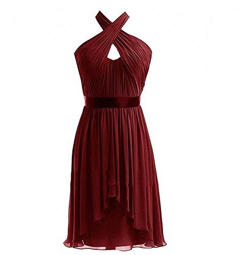 KA Beauty - Vestido - para mujer granate