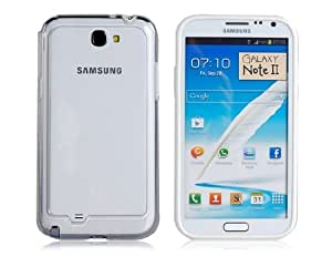 Bi-Color Design Protective PC Frame for Samsung Galaxy Note 2/ N7100 (White)