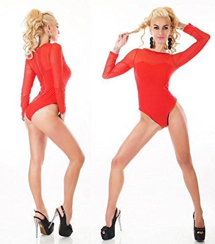 WeaModa - Body - para mujer rot Nieten