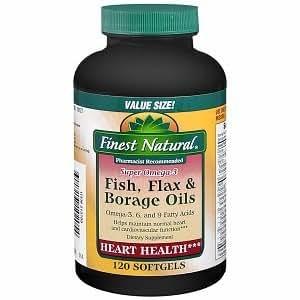 Fish flax and borage oils health personal care for Fish flax borage oil