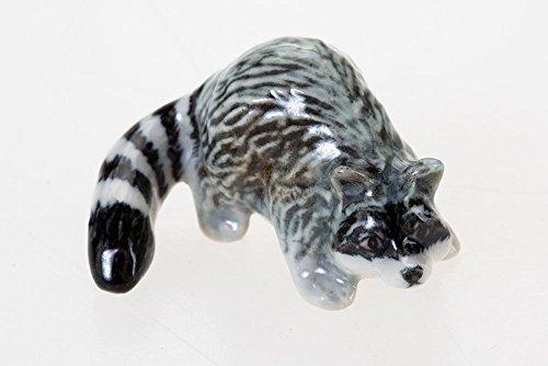 WitnyStore Raccoons Figurine Animal Miniature Collectibles Ceramic Cute Souvenir Decor Gift