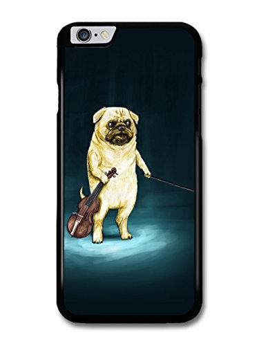 Funny Pug Playing Violin Illustration coque pour iPhone 6 Plus 6S Plus