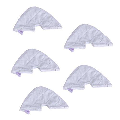Sharplace 5pcs Balai à Vapeur Lingette Nettoyage Maison pour Shark Triangle Blanc
