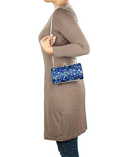 MyBatua Rachel borsa d'argento ottone incorniciate in metallo con cinturino Borse ACP-342