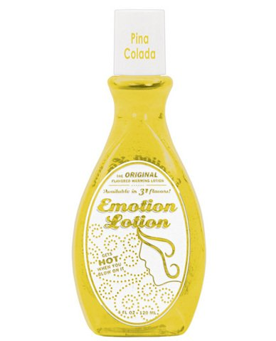 Edible Water Basesd Original Flavored Warming Massage Oil PINA COLADA by Emotion Lotion 4oz