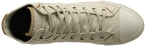 Levis Mens White Tab Hi Fashion Sneaker Light Beige EN49TU