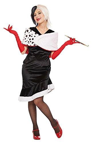 101 Dalmatians Outfit (Disney's 101 Dalmatians Costume -- Cruella Costume -- Teen/ Women's STD Size)
