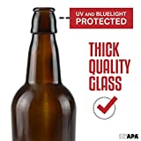 16 oz Amber Glass Beer Bottles for Home Brewing