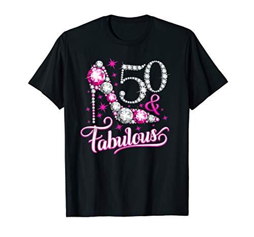 50 & Fabulous T-shirt. 50th Birthday t shirt for - Shirts Birthday 50th Tee
