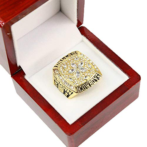 Dallas Cowboys Rings Supper Bowl Championship Rings with Display Box Size 11, Gold