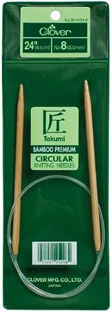 Size 10.5 Clover 3016//16-10.5 Takumi Bamboo Circular 16-Inch Knitting Needles