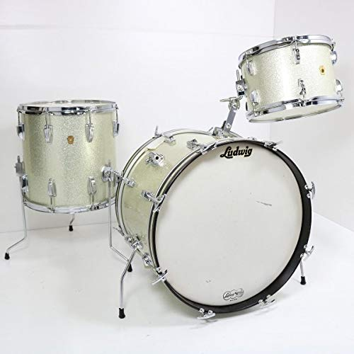 LUDWIG / 1966 DOWNBEAT Outfit Sparkring Silver Pearl 20BD 3pcs ラディック ダウンビート ドラムセット   B07P77H43P