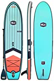ISLE 10'6' Scout | Inflatable Stand Up Paddle Board | 6' Thick iSUP and Bundle Accessory Pack | Durable and Lightweight | Stable Wide Stance | Up to 240 lbs Capacity (Aqua - 2017, 10')
