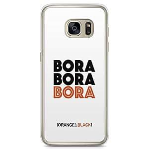 Samsung Galaxy S7 Edge Transparent Edge Case Orange Is The New Black Bora OITNB
