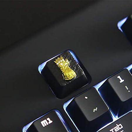 Color : Black Keyboard keycaps 1 Zinc-Aluminum Backlit Keycap for Mechanical Keyboard