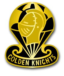 MilitaryBest United States Army Golden Knights Parachute Team Unit Crest Decal Sticker 3.8