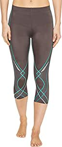 CW-X Women's Stabilyx¿ 3/4 Tight Charcoal/Teal Gradation Pants