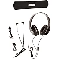 Coby CMB-102-BLK Over The Ear Headphones with Built-In Microphone and Bluetooth Speaker (Black)