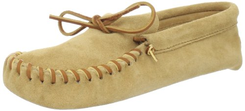 Minnetonka Men's Leather Laced Softsole Moccasin,Tan,11.5 M - Medieval Moccasins