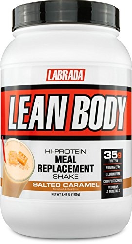 (Labrada Lean Body Hi-Protein Meal Replacement Shake, Salted Caramel, 2.47 Pounds)