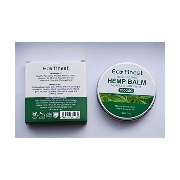 Hemp Pain Relief Salve – Premium Organic Hemp Ointment 2500mg, Rosemary Oil, Aloe Vera, Beeswax, Lavander Oil, Anti-Inflammatory for Joints & Muscles, Arthritis Pain, Max Strength Natural Solution
