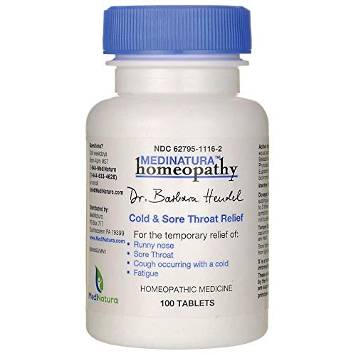 Dr. Barbara Hendel Relief Tablets, Cold and Sore Throat, 100 Count