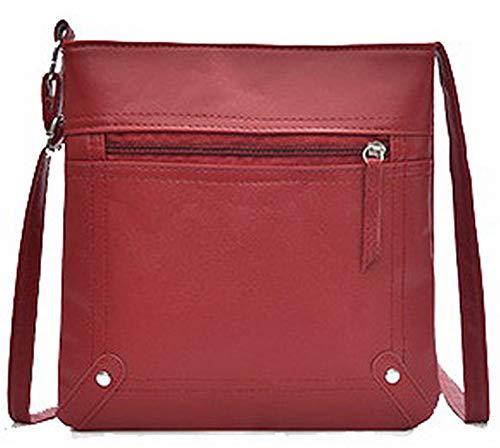 Bags Red Crossbody Darkbrown Casual Pu AllhqFashion FBUBC204295 Women's Bags qISxp8X