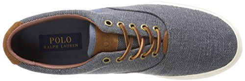 Polo Ralph Mens Lauren Vaughn Snörning Sneaker Mörk Chambray