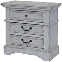 American Woodcrafters Stonebrook Nightstand, Antique Grey