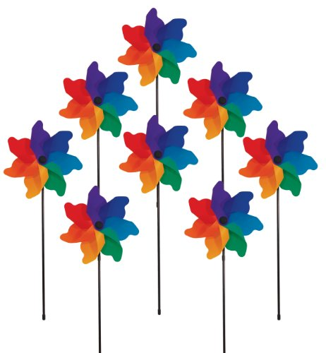 Poly Spinner (In the Breeze Rainbow Poly Petal Pinwheel Spinners (8 PC)