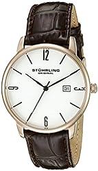 Stuhrling Original Men's 997L.04 Ascot Date Brown Leather Strap Watch
