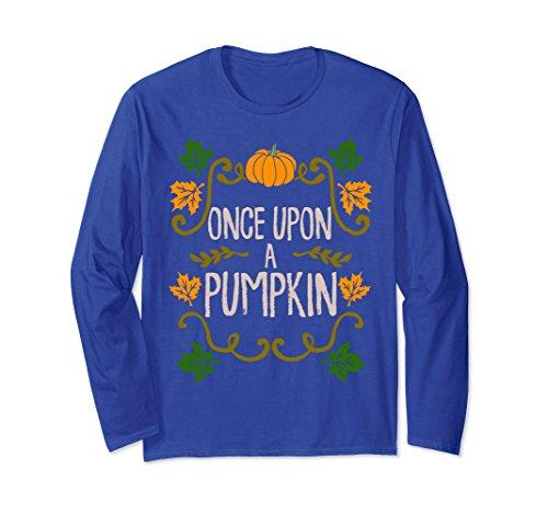 Unisex Once Upon A Pumpkin Shirt Halloween Fairy Tales XL: Royal Blue
