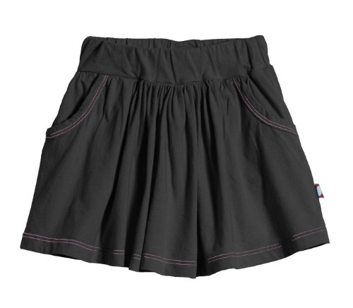City Threads Girls' Skort Skirt Shorts For Play School or Fun, Extra Soft 100% Breathable Cotton Perfect for Sensitive Skins and SPD Sensory Sensitive, Black10 Girls Skort Skirt Shorts