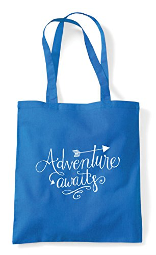 Awaits Tote Shopper Sapphire Adventure Statement Bag zBwaxqwf