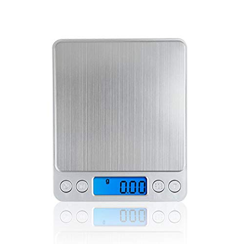 500g x 0.01g Portable Mini Electronic Food Scales Pocket Case Postal Kitchen Jewelry Weight Balanca With 2 Tray