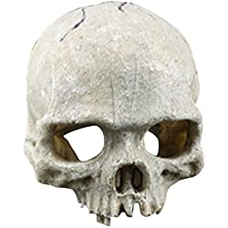 StarALL Resin Skull Aquarium Decoration Skull Ornament for Aquarium Fish Tank Fish Reptile Ornament Simulation Landscape