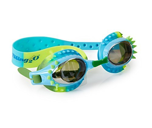 [Swimming Goggles For Boys - Aquaman Kids Swim Goggles By Bling2o (Guppie Green)] (Scuba Costume Child)