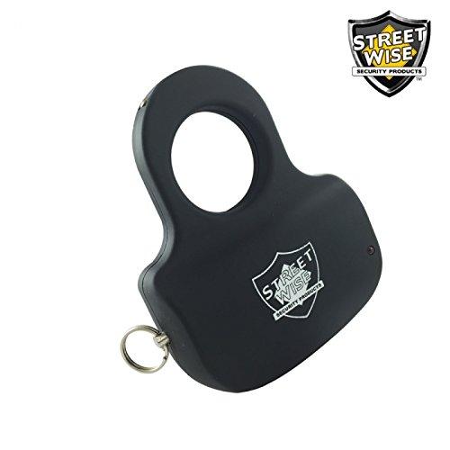 Sting Ring w/ KEY RING 18 Million Stun Gun - BLACK stun gun Discrete Protection