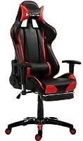 Cadeira Gamer Bluecase Diamond BCH-03RBK Preto/Vermelho - Reclinável, Apoio de Braço, Apoio para os Pés, Estofamento de Alta Qualidade