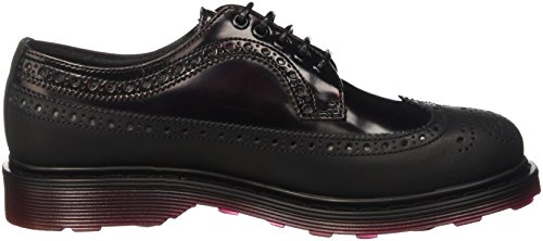 Cult Sabbath, Zapatos de Cordones Brogue para Mujer Nero (Black/Bordeaux)