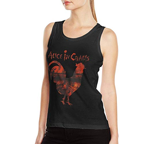 - Alice in Chains Women's Tank Tops Sexy Vest T-Shirt Sleeveless Sport Workout Gym Blouse Black