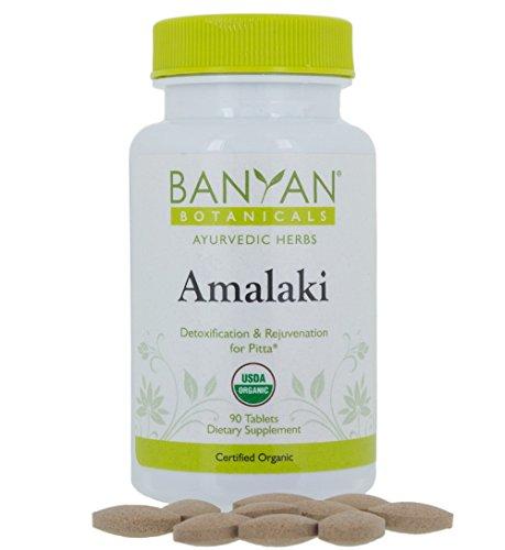Banyan Botanicals Amalaki (Amla) - USDA Organic, 90 tablets - Emblica officinalis - Ayurvedic Antioxidant for Hair, Skin, Digestion*