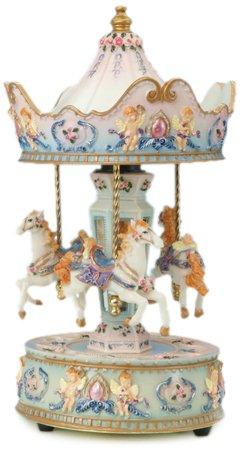 【安心発送】 MusicBox Kingdom 14031 Carousel B007POACXY with Angel Music Box Music Playing