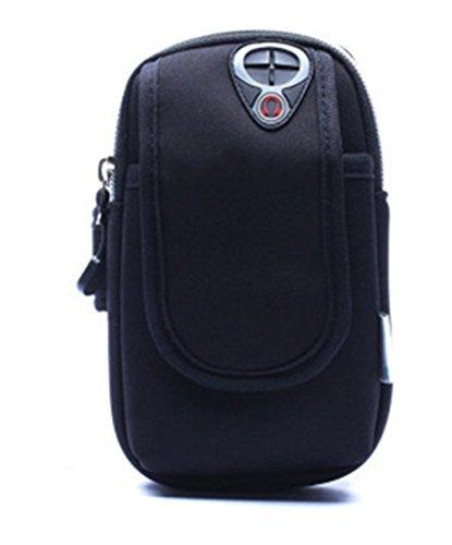 Creative Arm Tasche, Tauchen Material Fitness Outdoor Sport Handy wasserdichte Tasche Reiten Bergsteigen Running Aufbewahrung Arm Gürtel schwarz